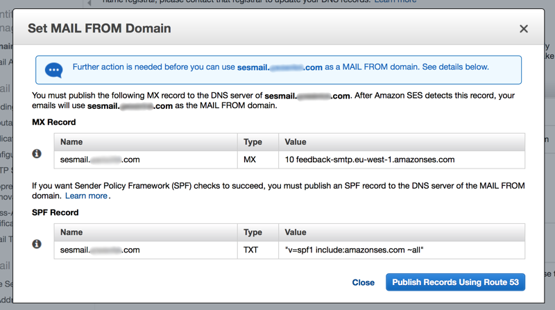 Define MAIL FROM subdomain
